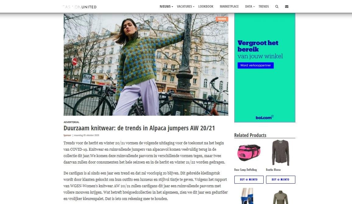 Fashion United NL Alpaca Trends AW 2021