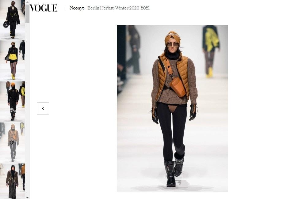 Vogue Germany FW 202021 Neonyt Fashion Show