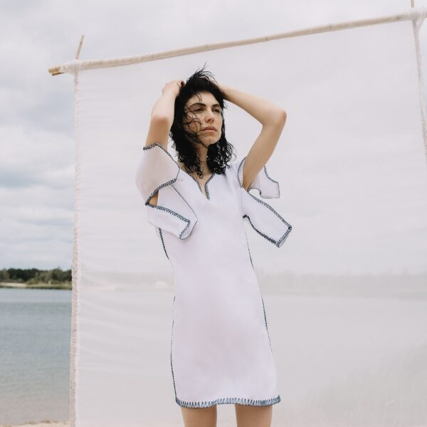 Berg linen dress white