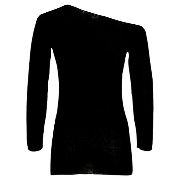 maxima pima cotton sweater black back
