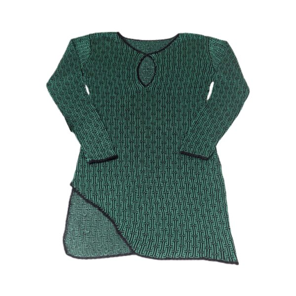 delika green dress pima cotton
