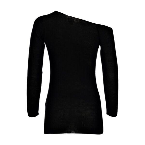 maxima black pima cotton top sweater