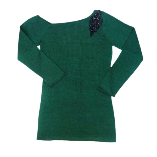maxima green pima cotton top sweater