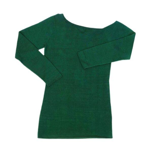maxima green pima cotton top sweater