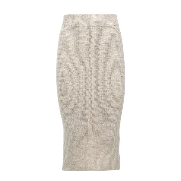 isa white pima cotton skirt
