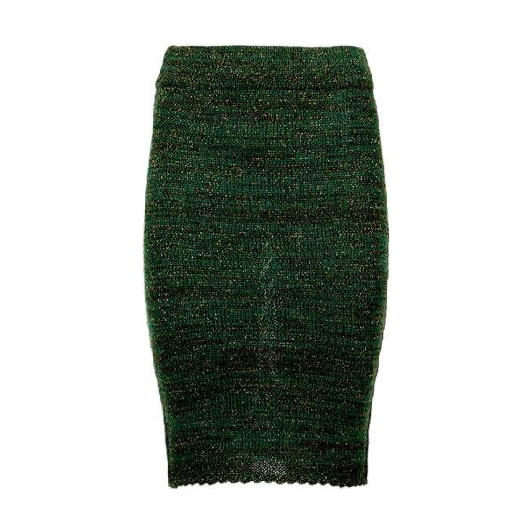 greetje green alpaca skirt