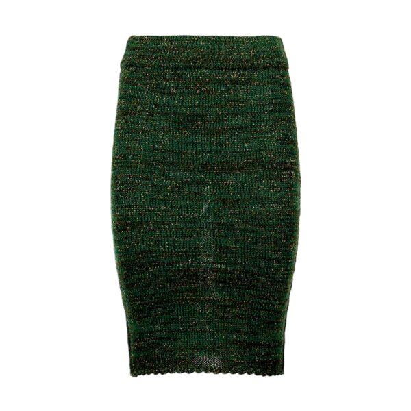 greetje green alpaca skirt