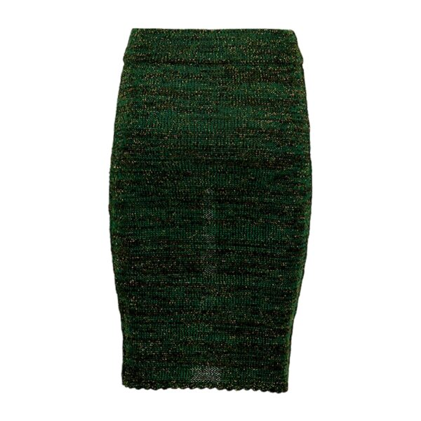 greetje green alpaca skirt back