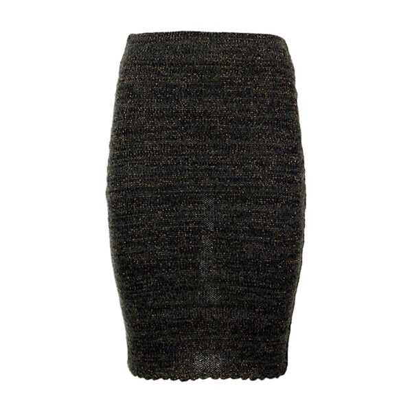 greetje black brown alpaca skirt