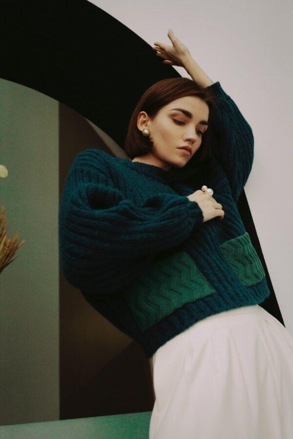 motion alpaca sweater green