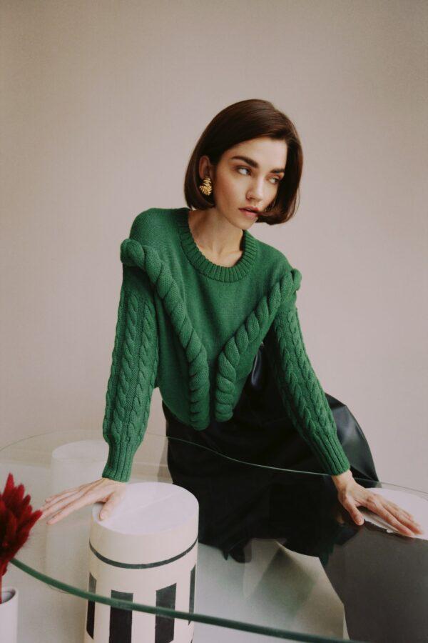 alpaca sweater green