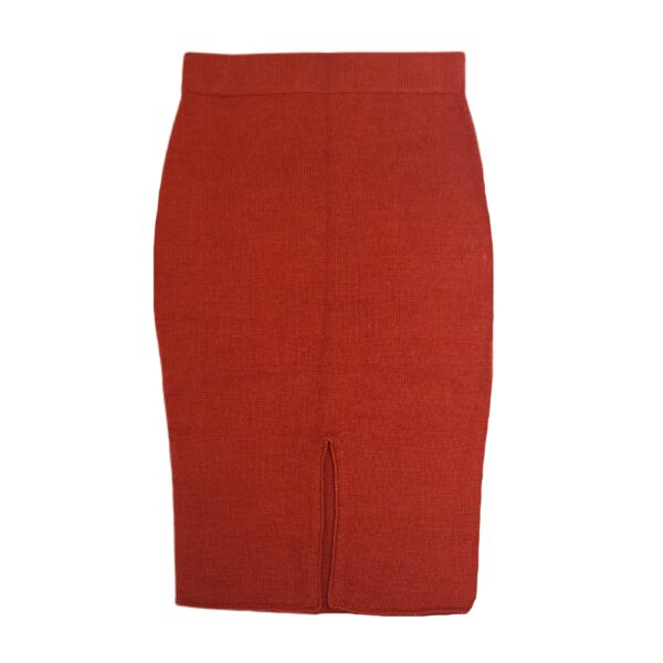 anouk alpaca skirt red back