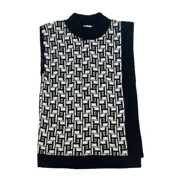 jasmin alpaca vest black and white