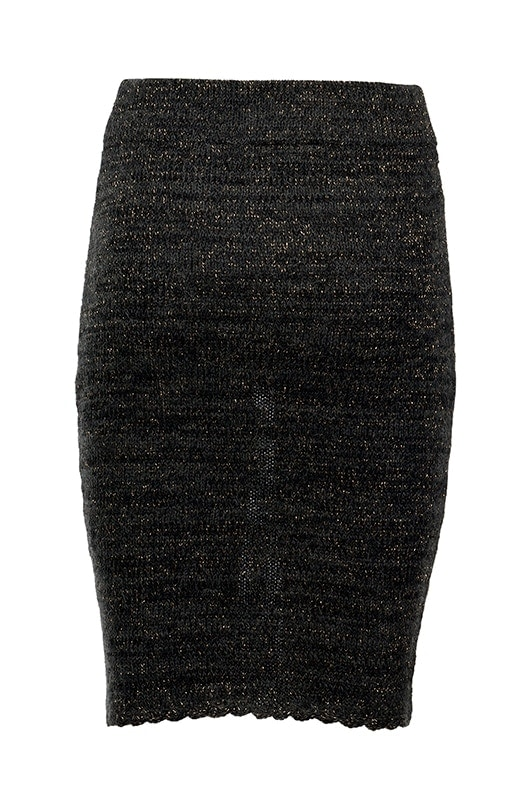 greetje grey knitted skirt
