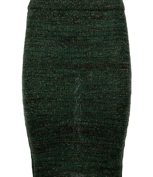 greetje green knitted skirt