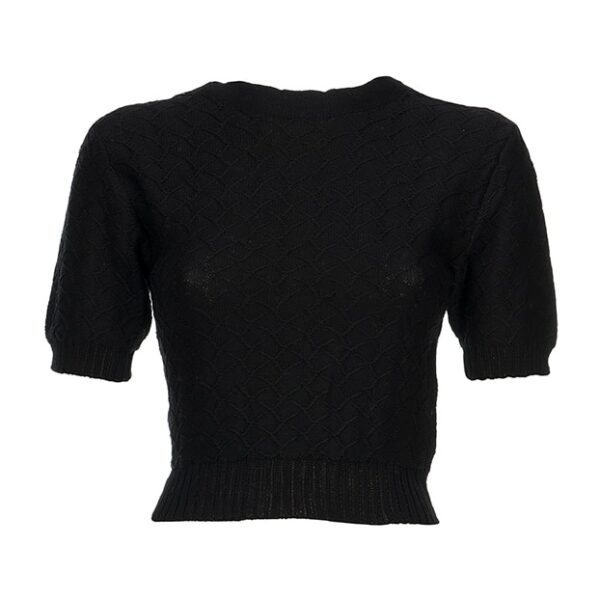 luciana crop top black