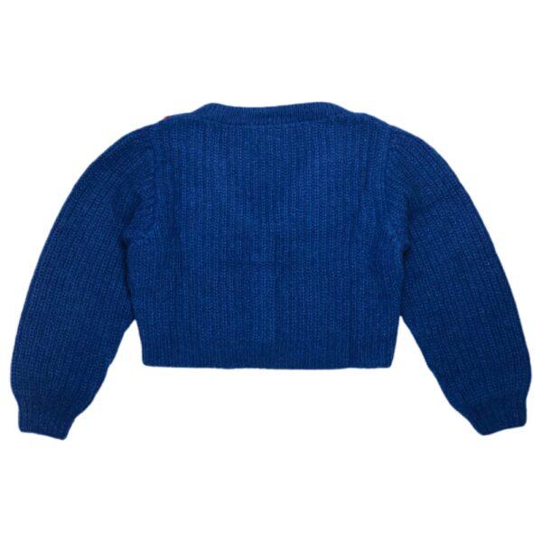 flow sweater blue back