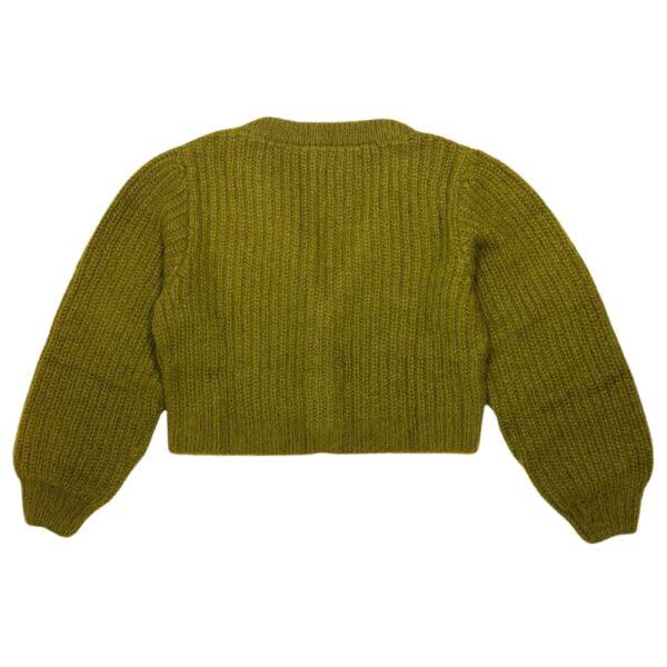 flow sweater green back