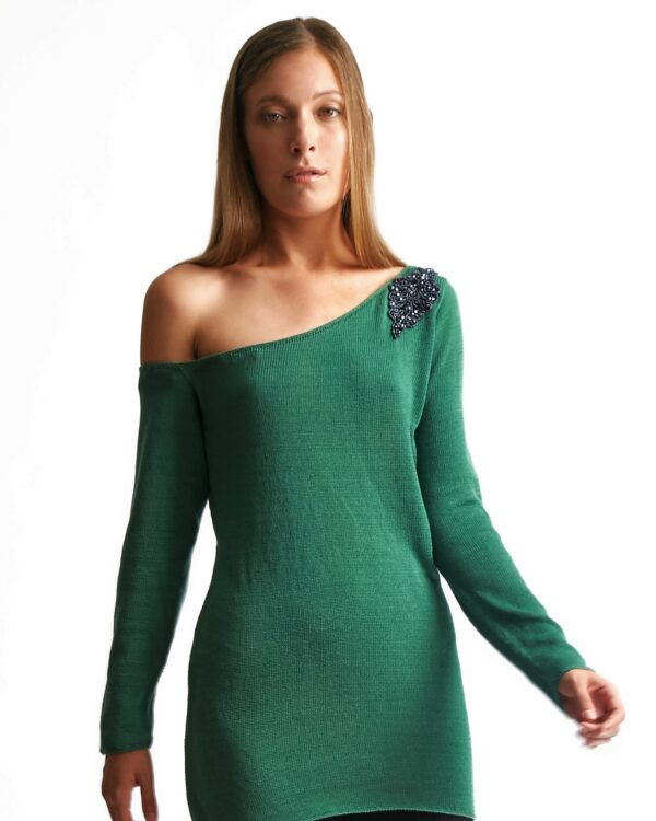maxima green sweater2