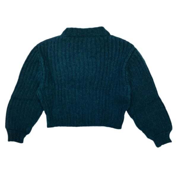 motion sweater dark green back
