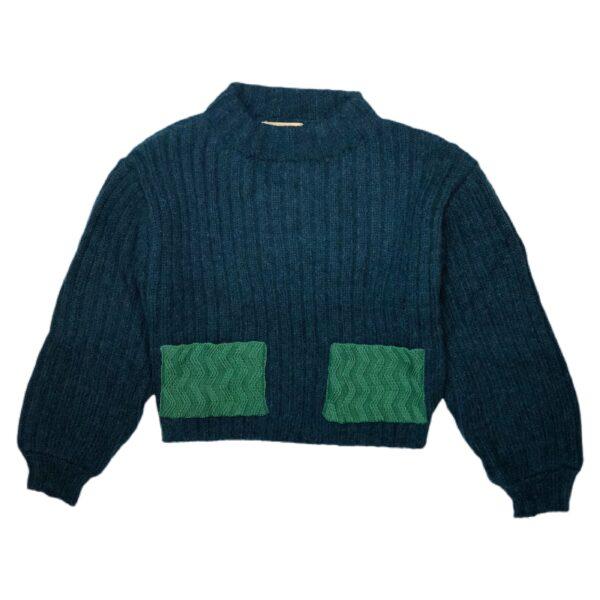 motion sweater dark green front